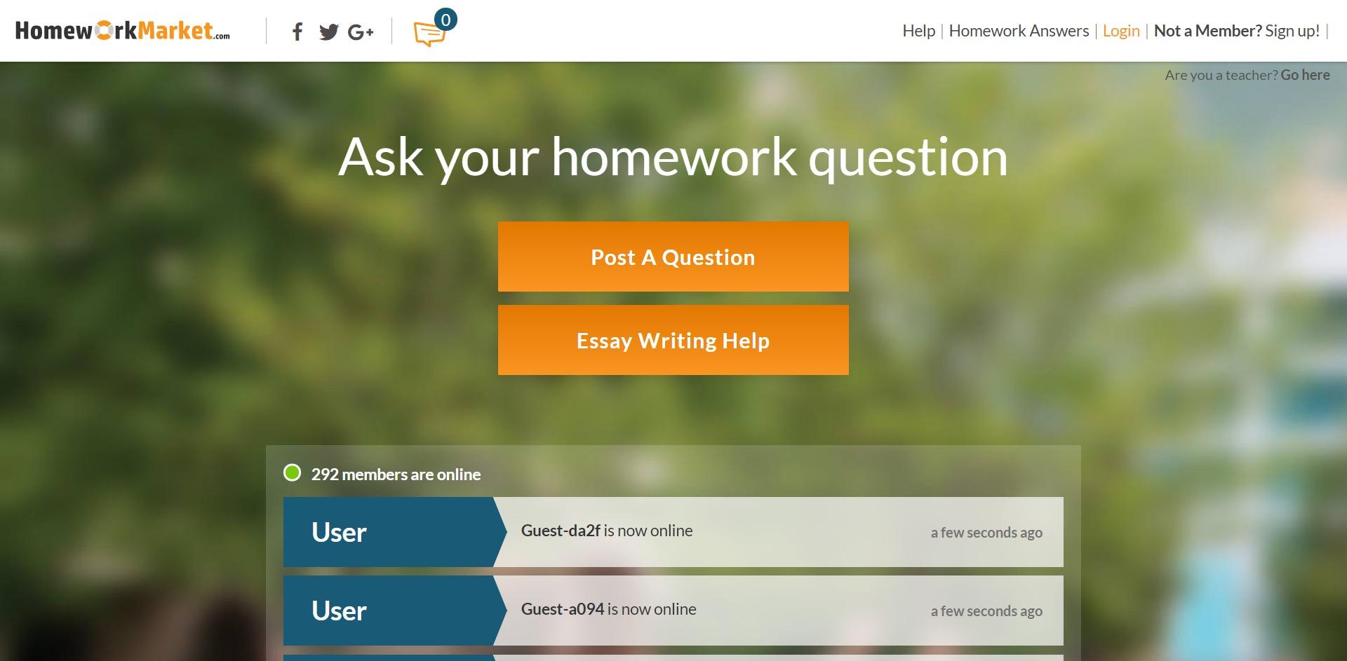 Homework-Market Review