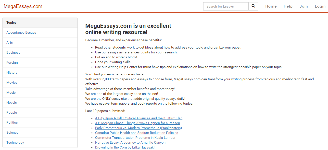 MegaEssays.com review